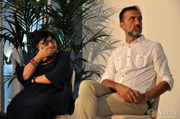 Luisa Morgantini, President of Nazra – PSFF Stefano Casi, Artistic Director of Nazra - PSFF
