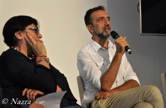 Luisa Morgantini, President of Nazra – PSFF Stefano Casi, Artistic Director of Nazra - PSFF