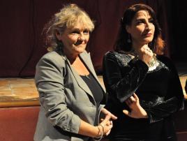 Meri Calvelli, presidente Nazra, e Fatena al-Ghorra